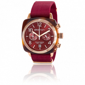 Clubmaster Chrono Gold Acétate Rouge Ecaille de tortue cadran rouge