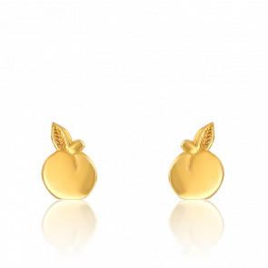 Boucles d'Oreilles Pommes Or Jaune
