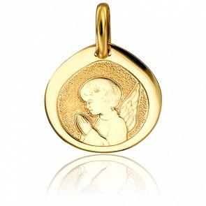 Médaille Goutte Ange en Prière Or Jaune 18K