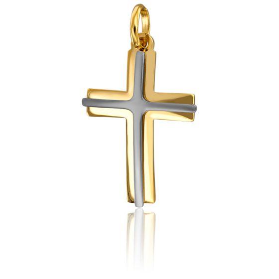 Croix Superposées 2 Ors 18K