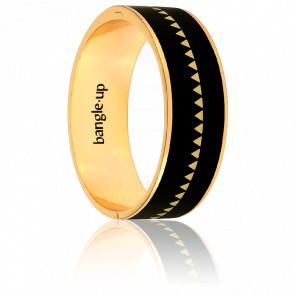 Bracelet Bollystud Ornementé Noir Plaqué Or Jaune