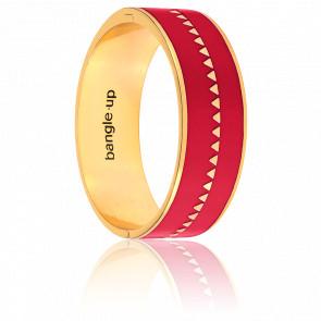 Bracelet Bollystud Ornementé Rouge Heureux Plaqué Or Jaune