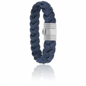 Bracelet 696 Cordon Marin Navy Blue & Acier
