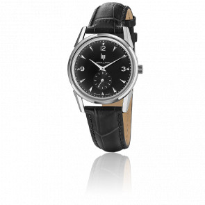 Montre Himalaya 35 Chrome Black Dial Black Leather 671043