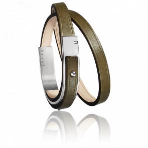 Bracelet U-Turn Révolution Olive Fermoir Acier