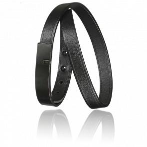 Bracelet U-Turn Twice Noir