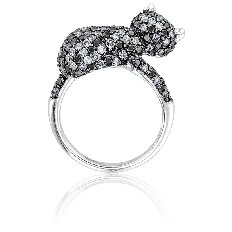 bague diamant chat
