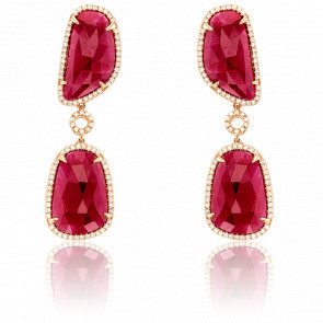 Boucles d'Oreilles Fulgence Or Rose 18K