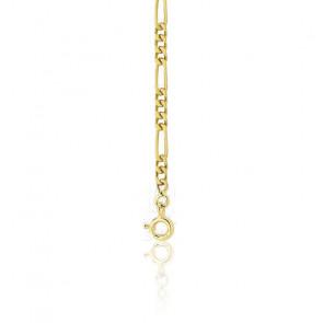 Bracelet Maille Cheval Alternée Ultra Plate 3-1, Or Jaune 18K, 17 cm