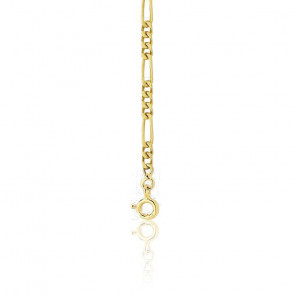 Bracelet Maille Cheval Alternée Ultra Plates 3-1, Or Jaune 18K, 23 cm