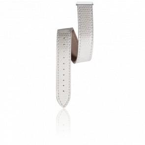 Bracelet Lanière Iguana Blanc Pomodoro pour série Antares Interchangeables