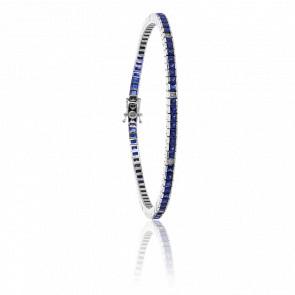 Bracelet Bathilde Or Blanc 18K et Saphirs