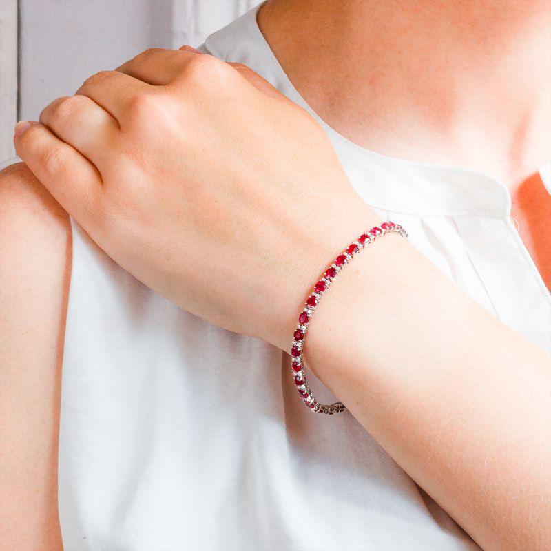 Bracelet homme rubis