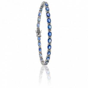 Bracelet Marina Or Blanc 18K et Saphirs