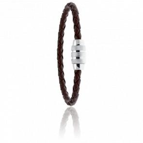 Bracelet Locker Marron 5 mm
