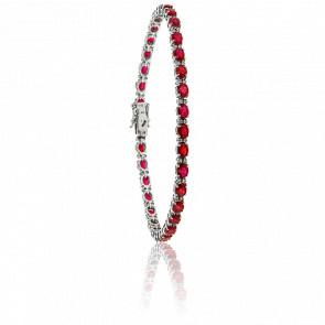 Bracelet Marie-Louise Or Blanc 18K et Rubis