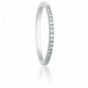 Alliance Atasi Or Blanc 18K & Diamants 0,11ct