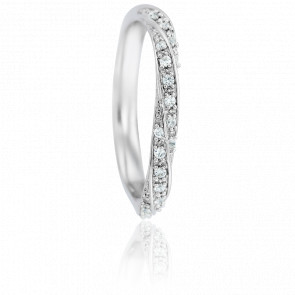 Alliance Fidis Or Blanc 18K & Diamants 0,12ct