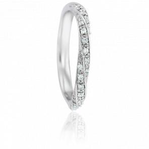 Alliance Fidis Or Blanc 18K & Diamants 0,10ct