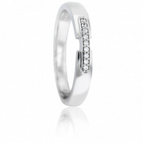 Alliance Asellus Or Blanc 18K & Diamants