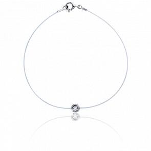Bracelet Fil de Pêche Diamanté 0,05 ct G/SI (serti clos)