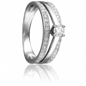 Bague Sixtine Or Blanc et Diamants