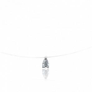 Collier Maureen Diamant & Or Blanc 18K