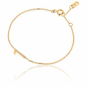 """Bracelet Chiffre """"1"""" Or Jaune et Diamants"""