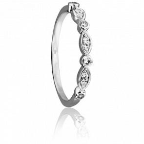 Alliance Siham Or Blanc 18K & Diamants