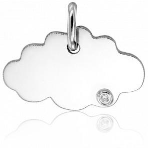 Pendentif Little Cloud Or Blanc et Diamant