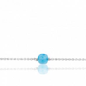 Bracelet Gemme Topaze Bleue & Argent