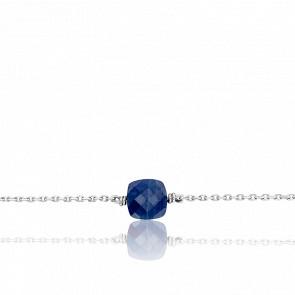 Bracelet Gemme Or Blanc 18K & Saphir 1,66 ct