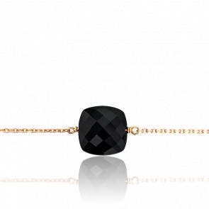 Bracelet Gemme Or Rose 18K & Onyx 3,92 ct GM
