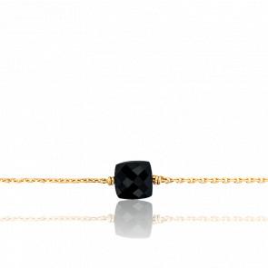 Bracelet Gemme Or Jaune 18K & Onyx 0,60 ct PM