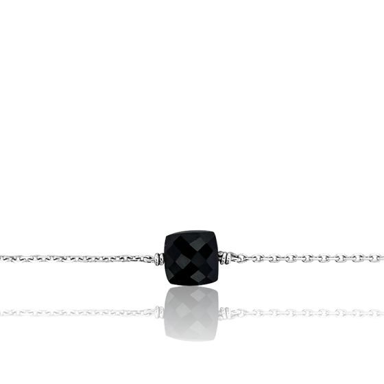 Bracelet Gemme Argent & Onyx 0,60 ct