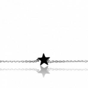 Bracelet Etoile Argent & Hématite