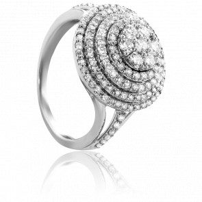 Bague Dâmodar Diamants & Or Blanc 18K