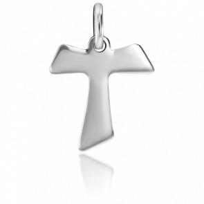 Croix de Saint-Antoine Or Blanc 18K