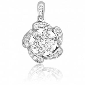 Pendentif Rosace diamantée