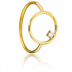 Bague Cercle Or Jaune & Diamant