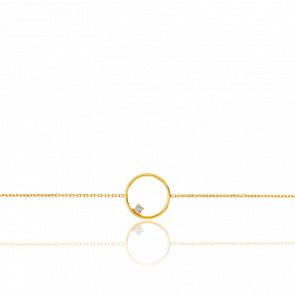 Bracelet Cercle Or Jaune & Diamant