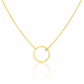 Collier Cercle 16.3 mm Or Jaune & Diamant
