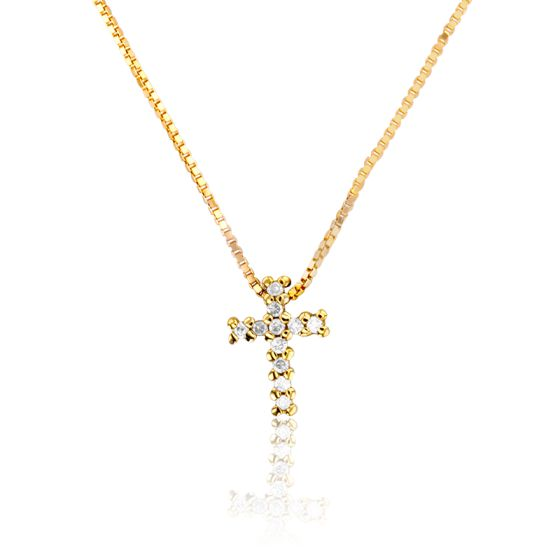 collier homme croix or