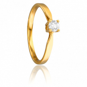 Bague Solitaire Paris Or Jaune & Diamant 0,18ct