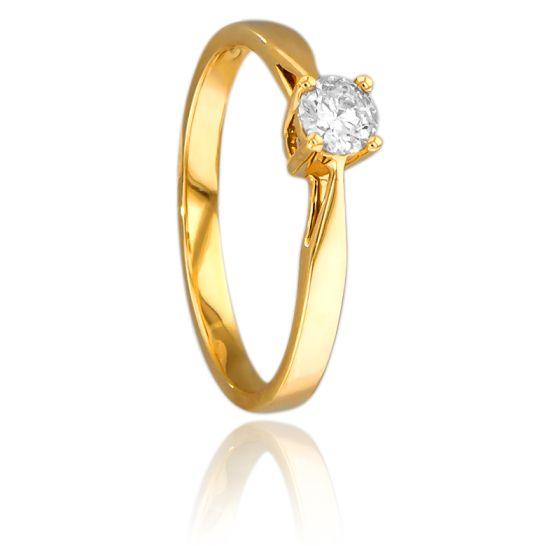 Bague Solitaire Paris Or Jaune & Diamant 0,23ct