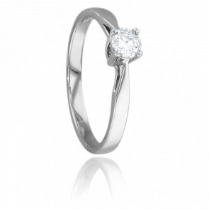Bague Solitaire Paris Or Blanc & Diamant 0,23ct