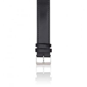 Bracelet type NATO en cuir - Classic noir acier poli
