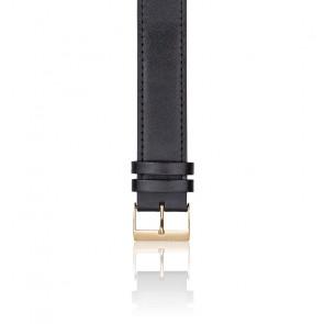 Bracelet type NATO en cuir - Classic noir or jaune
