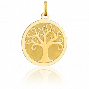Médaille Arbre de Vie Motif Arabesque Or Jaune 18K