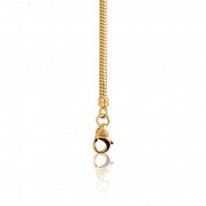 Bracelet Maille Serpentine, Or Jaune 18K, longueur 19 cm